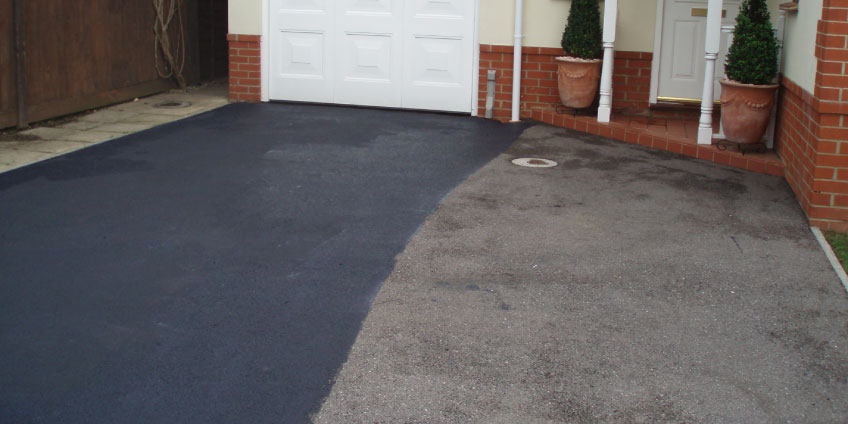 Tarmac-Restoration-before-cleaning